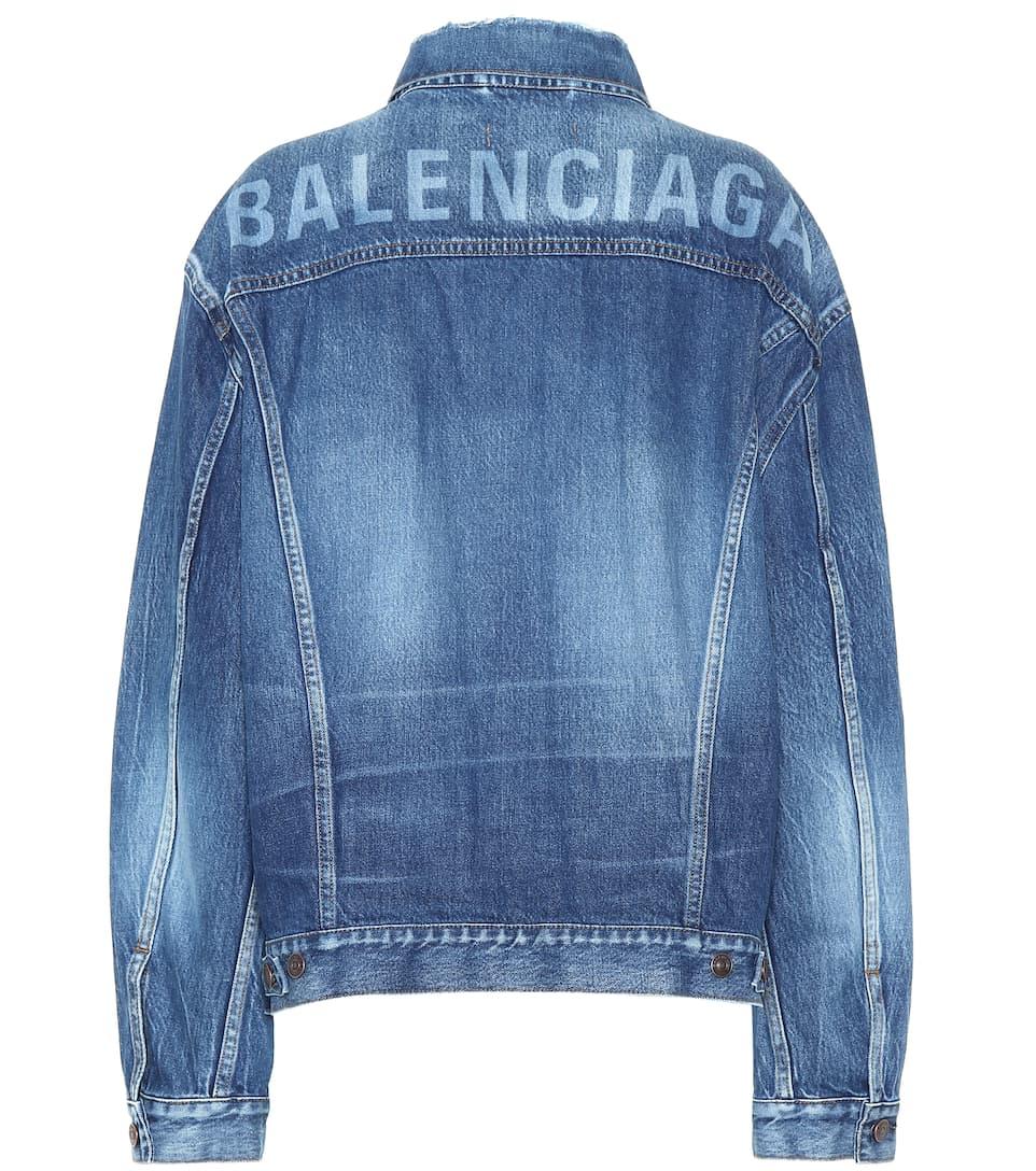 Giacca Di Jeans Con Logo by Balenciaga