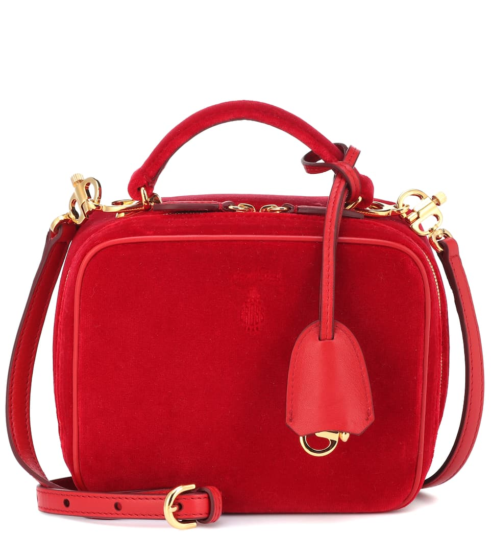 Baby Laura Velvet Shoulder Bag by Mark Cross