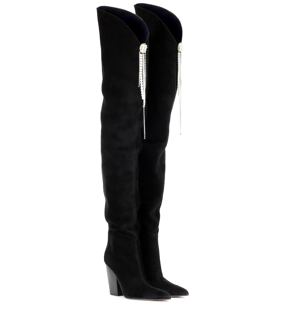 Denmark Suede Over The Knee Boots by Magda Butrym