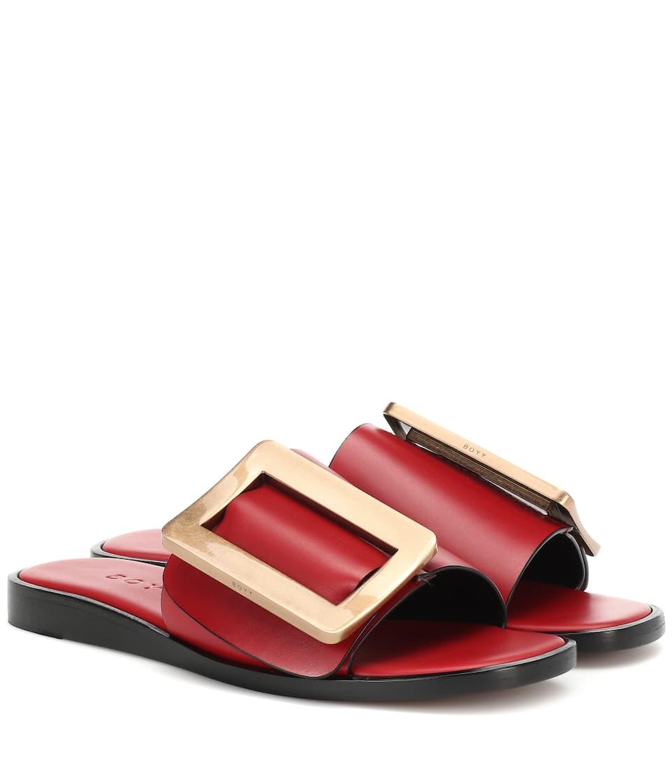 1ce58906eb85 Boyy - Exclusive to Mytheresa – Buckle leather sandals