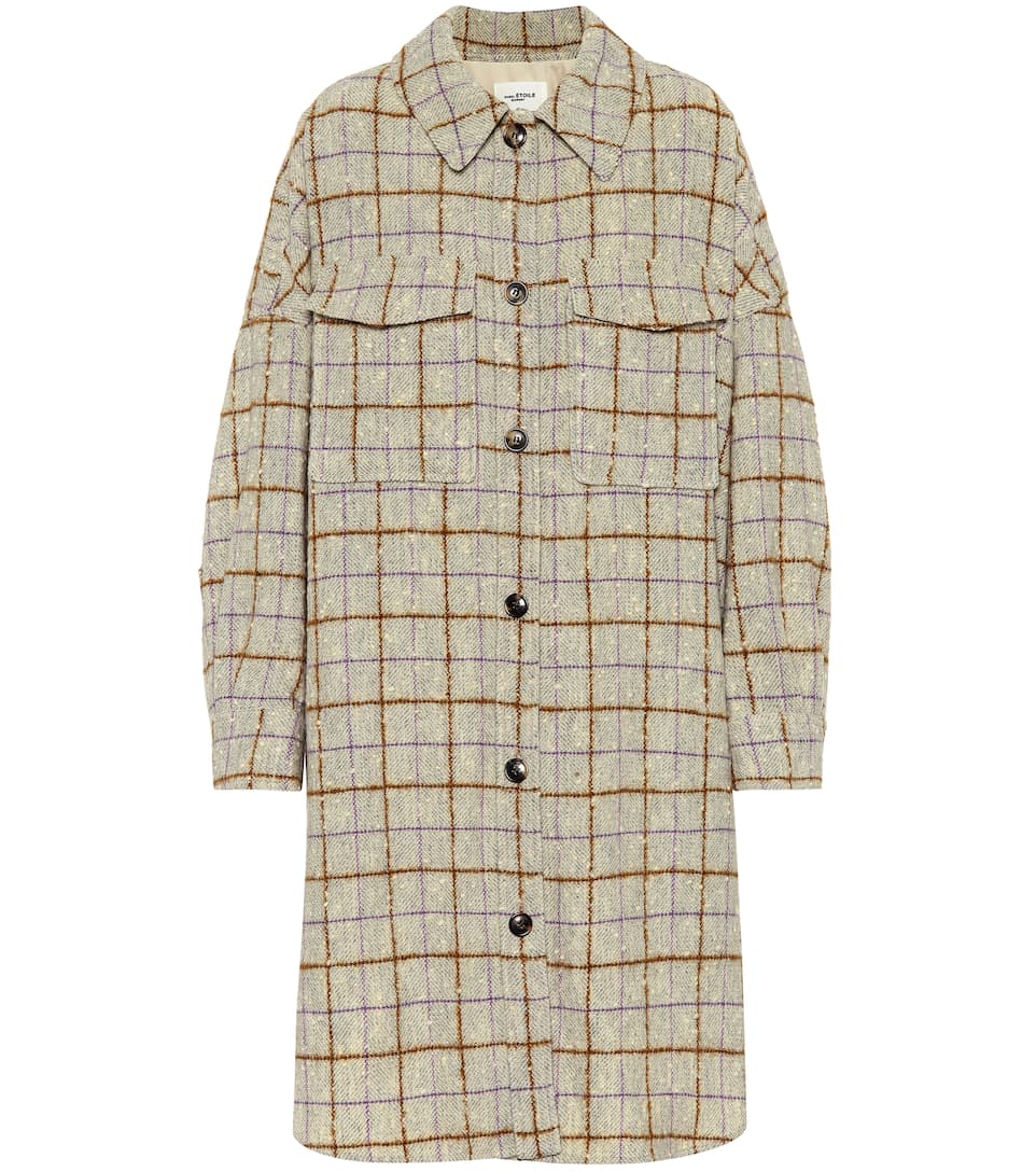 Oario Checked Wool Coat by Isabel Marant, Étoile
