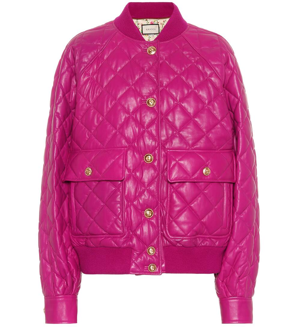 61fb3fef6 Quilted Leather Bomber Jacket - Gucci | Mytheresa