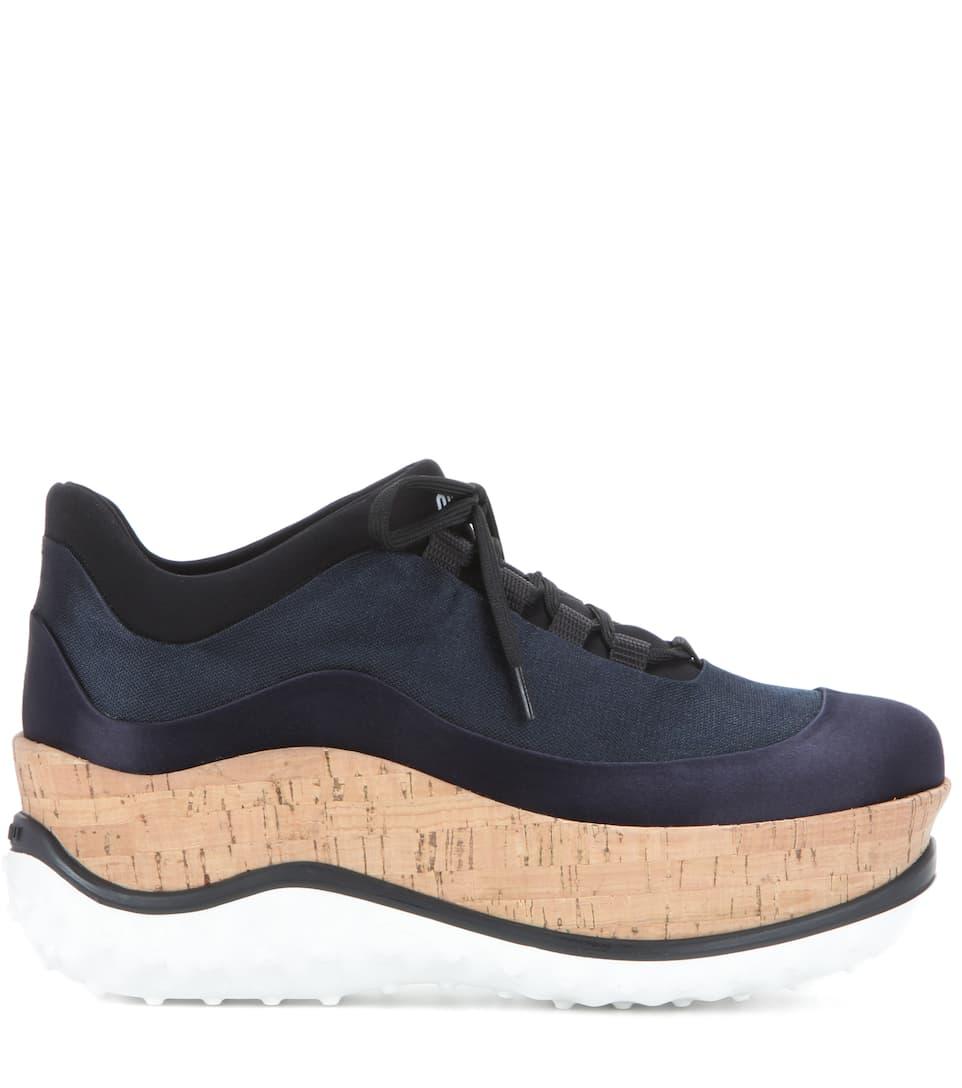 Zum Verkauf Online-Shop Miu Miu Sneakers mit Plateausohle Spielraum Spielraum DX6zmH