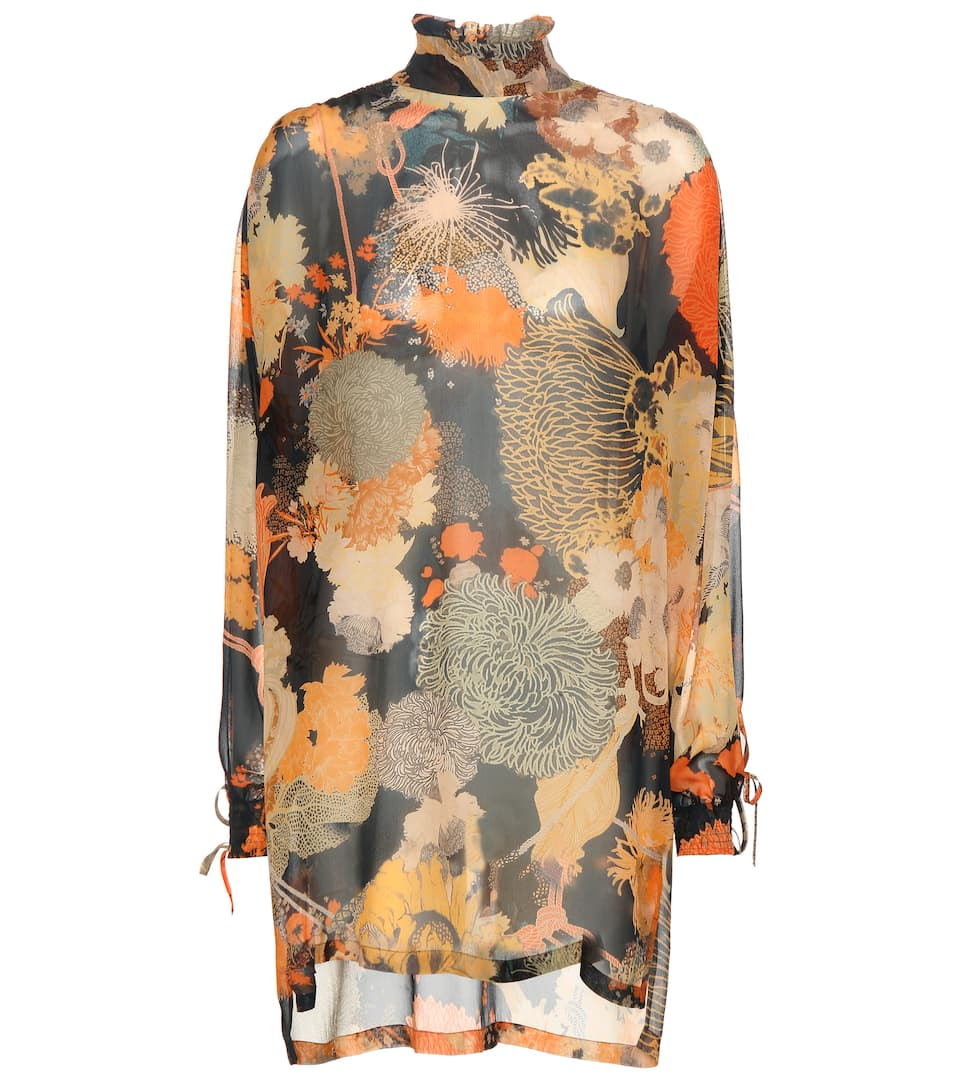 Dries Van Noten Kleid aus Seiden-Georgette