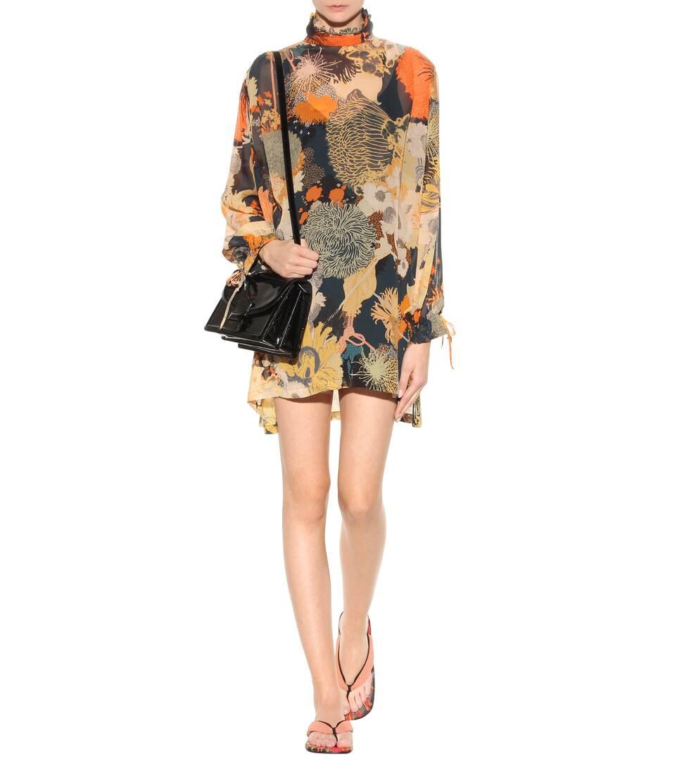 Extrem Zum Verkauf Dries Van Noten Kleid aus Seiden-Georgette Spielraum Footlocker UQia0s