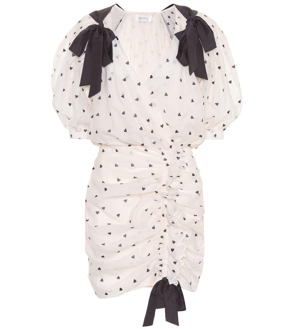 Crema seda Heart algodón de vestido Carbón Zimmermann y Painted 6S0q6YP