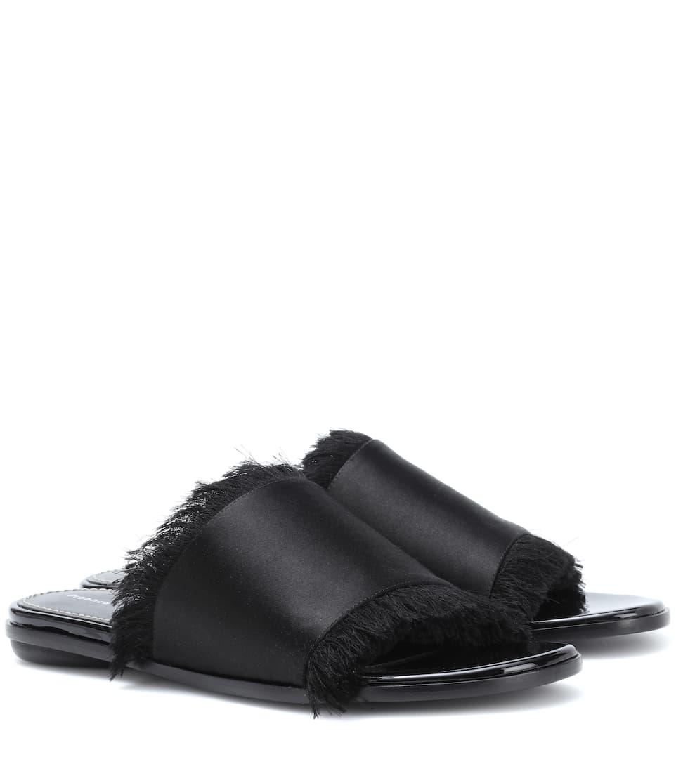 Proenza Schouler Satin and leather slides kOwEMf