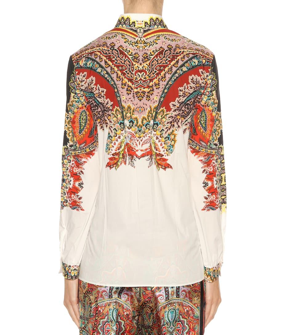 Etro Bedruckte Bluse aus Stretch-Baumwolle