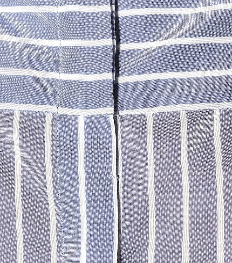 Brunello Cucinelli Gestreifte Bluse aus Baumwoll-Seidengemisch