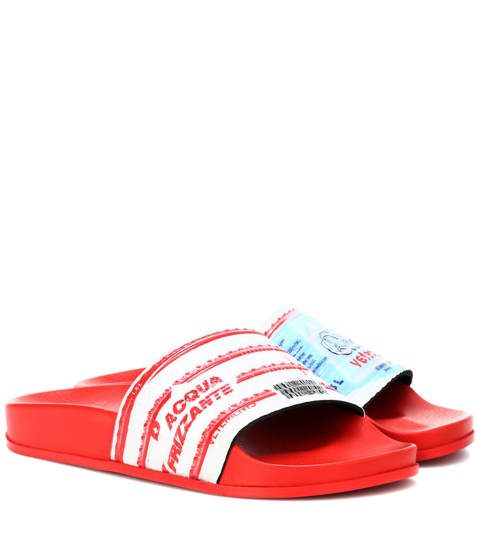 Vetements Printed slides Purchase Your Favorite  Discount Big Discount Outlet Cheapest Prices Sale Online Cheap Sale Popular O3vdcdvZ