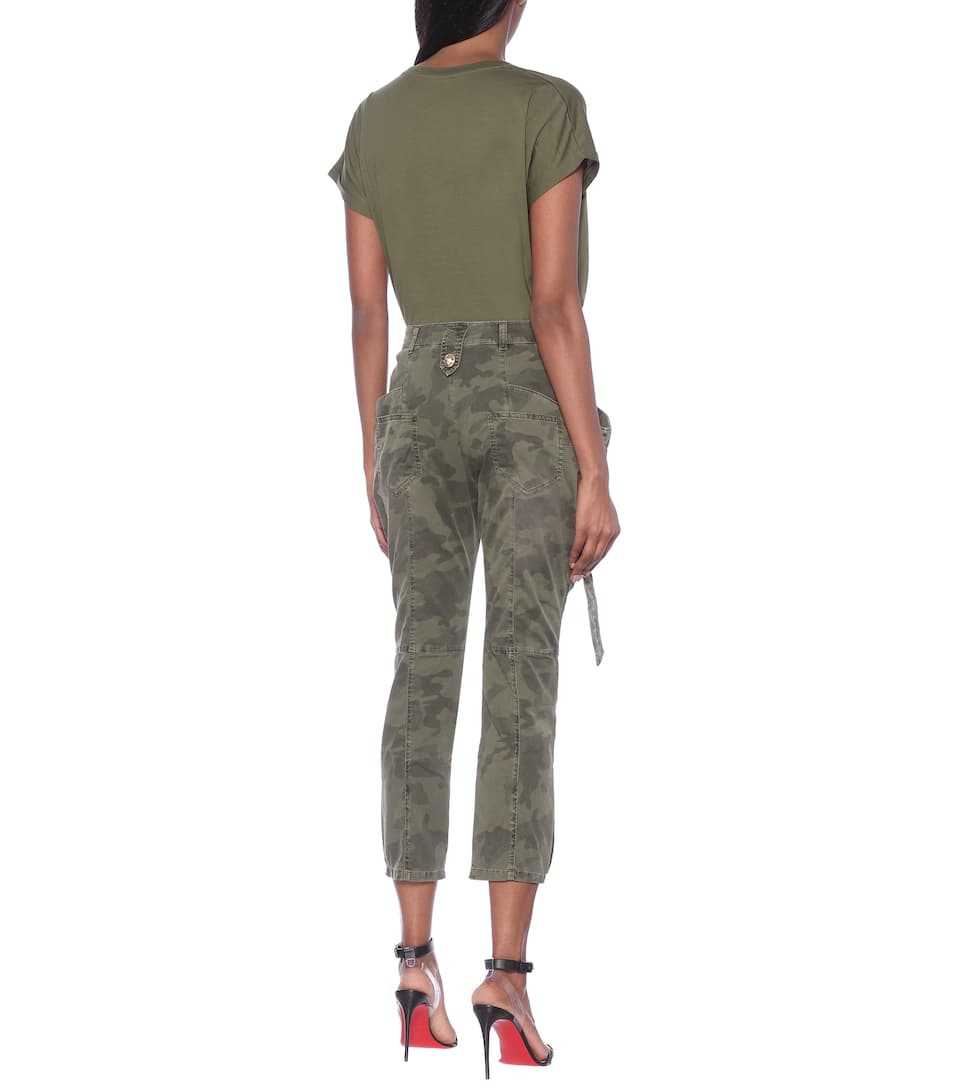 Balmain - Camouflage mid-rise skinny jeans