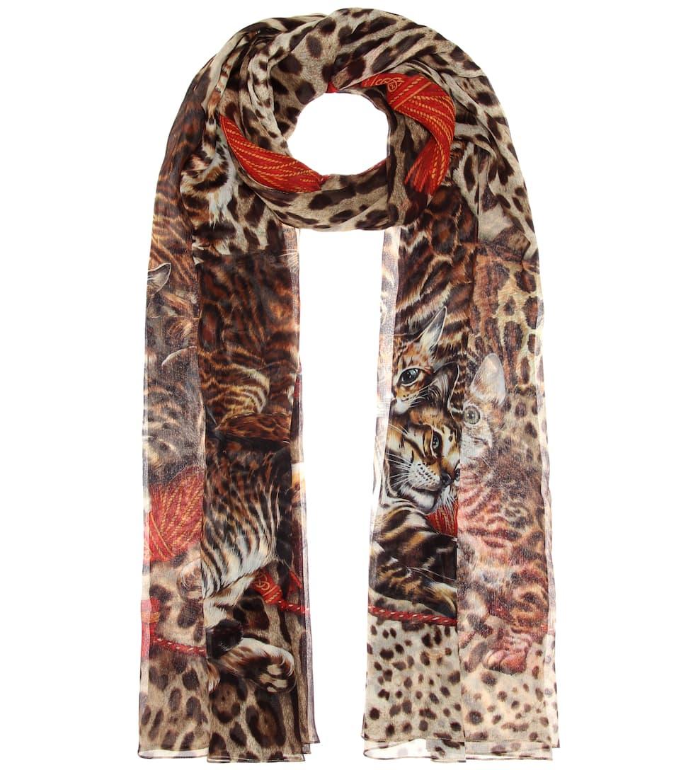 Dolce & Gabbana Printtuch aus Seiden-Georgette