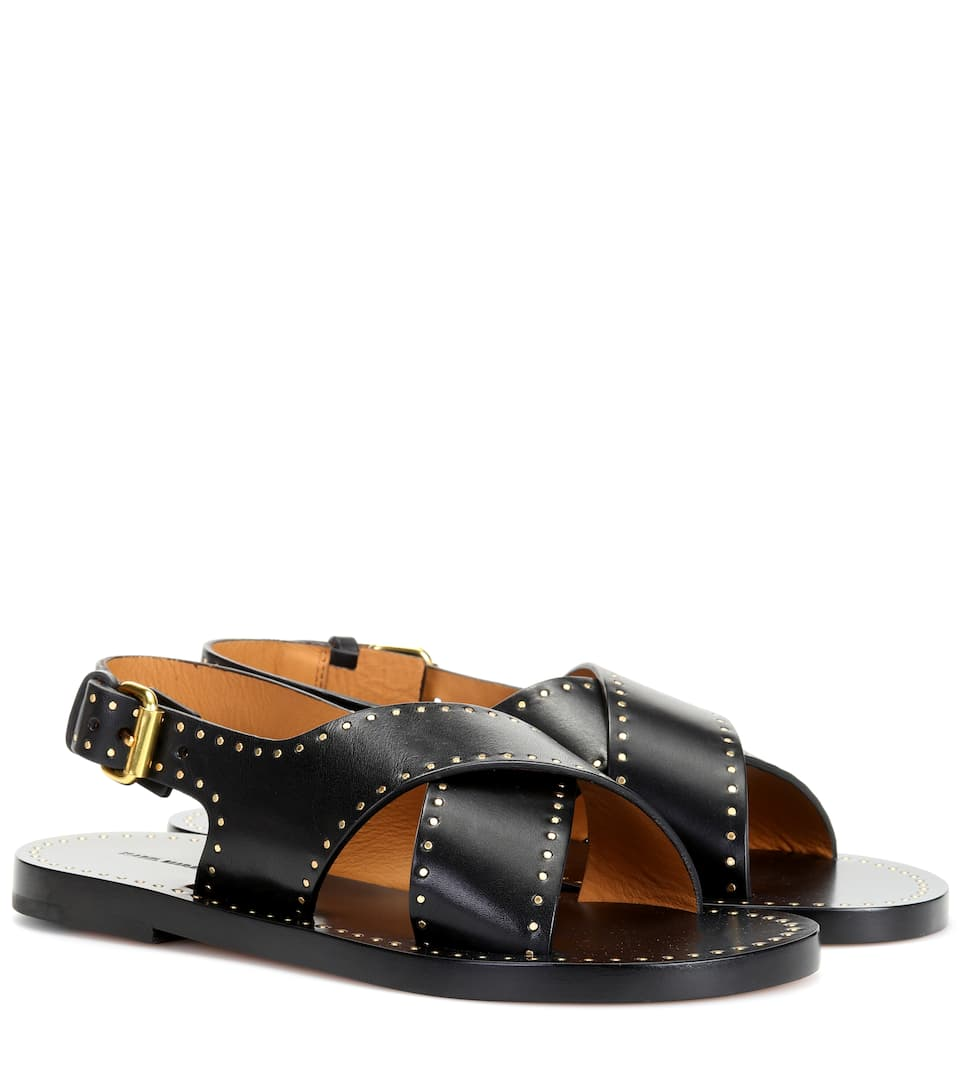 JANE STUDDED LEATHER SANDALS