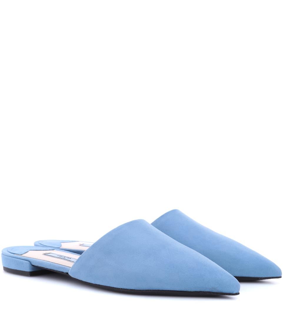 Slippers aus Veloursleder Slippers Prada Veloursleder aus Prada AO6w4