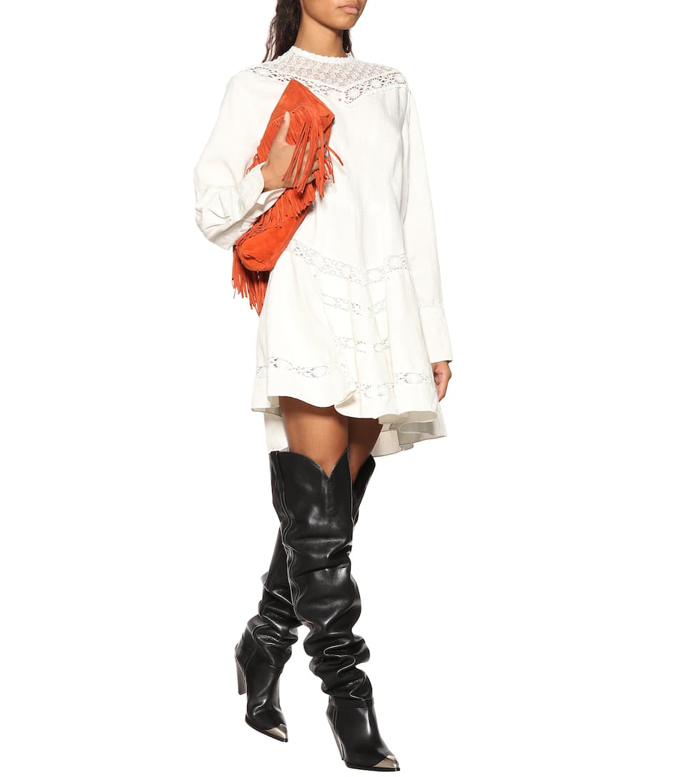 81c0f623ad9 Lafsten leather over-the-knee boots. Runway. Isabel Marant