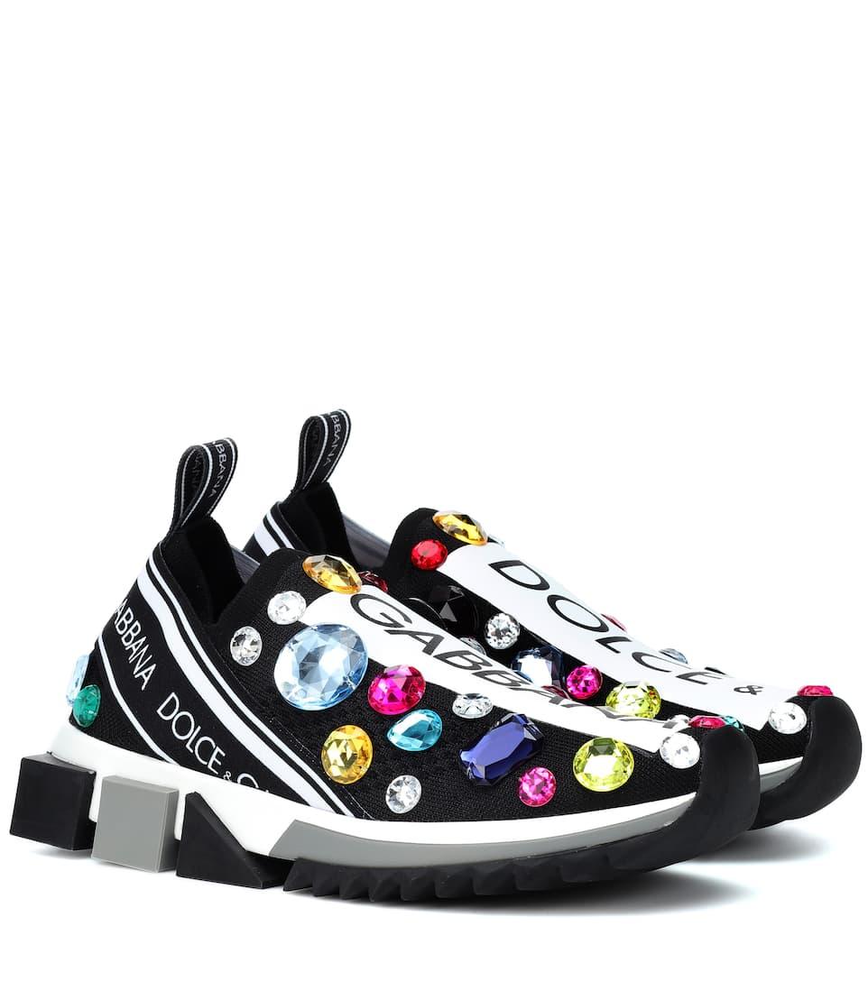 d552ec02c Sorrento Embellished Sneakers - Dolce & Gabbana | mytheresa