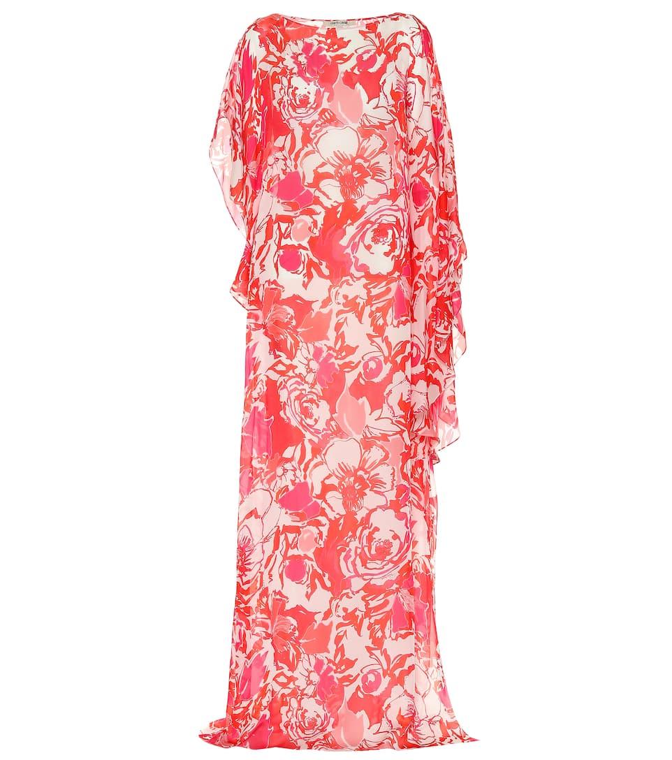 0407e9e2bf2 Floral-Printed Silk Maxi Dress - Roberto Cavalli