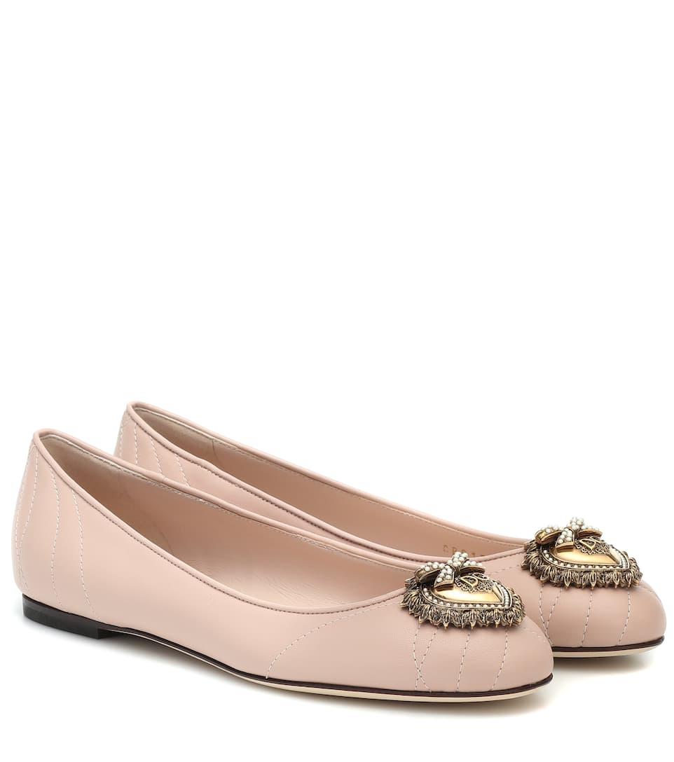 aliexpress amazing selection best quality Devotion Leather Ballet Flats - Dolce & Gabbana | Mytheresa