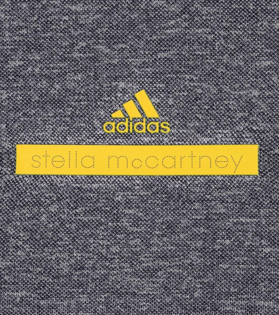 ADIDAS BY STELLA MCCARTNEY Yoga Seamless 3/4-Sleeve Top, Noble Ink/White, Blue/White
