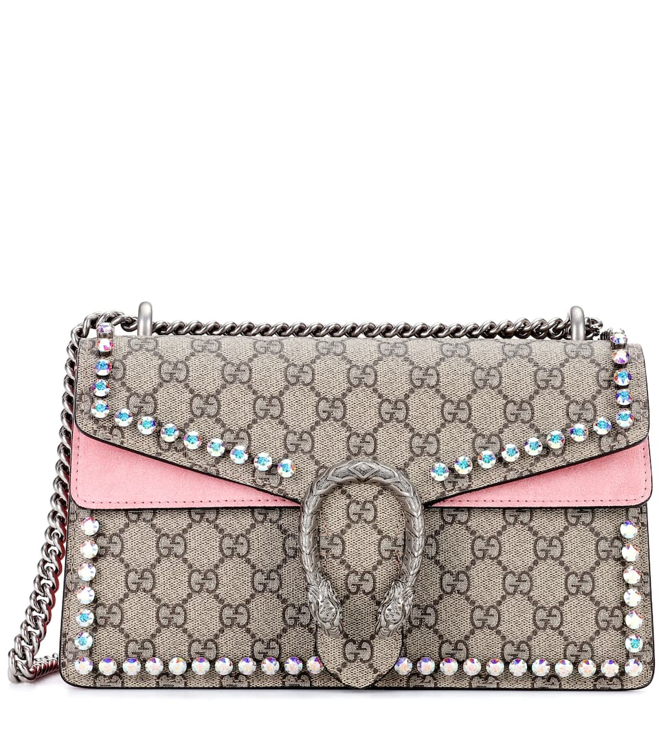 88c494ec8a Shoptagr | Dionysus Gg Supreme Small Coated Canvas Shoulder Bag by Gucci
