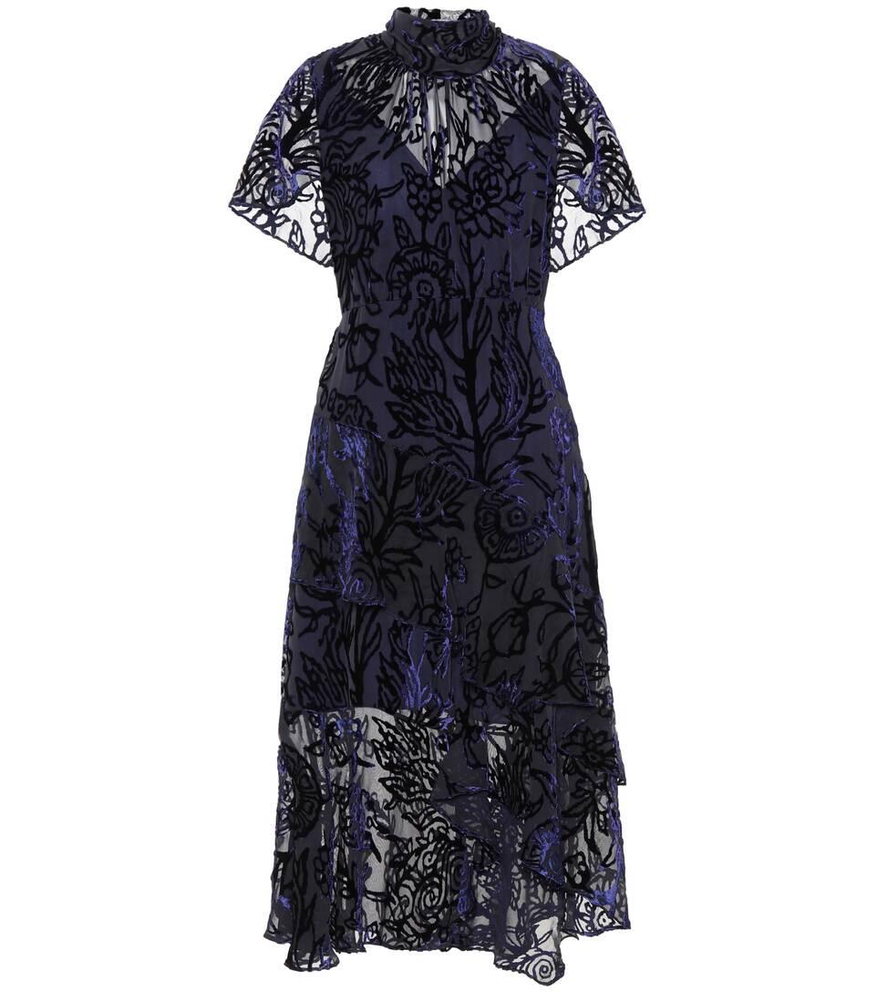 Peter Pilotto Kleid aus Devoré-Samt