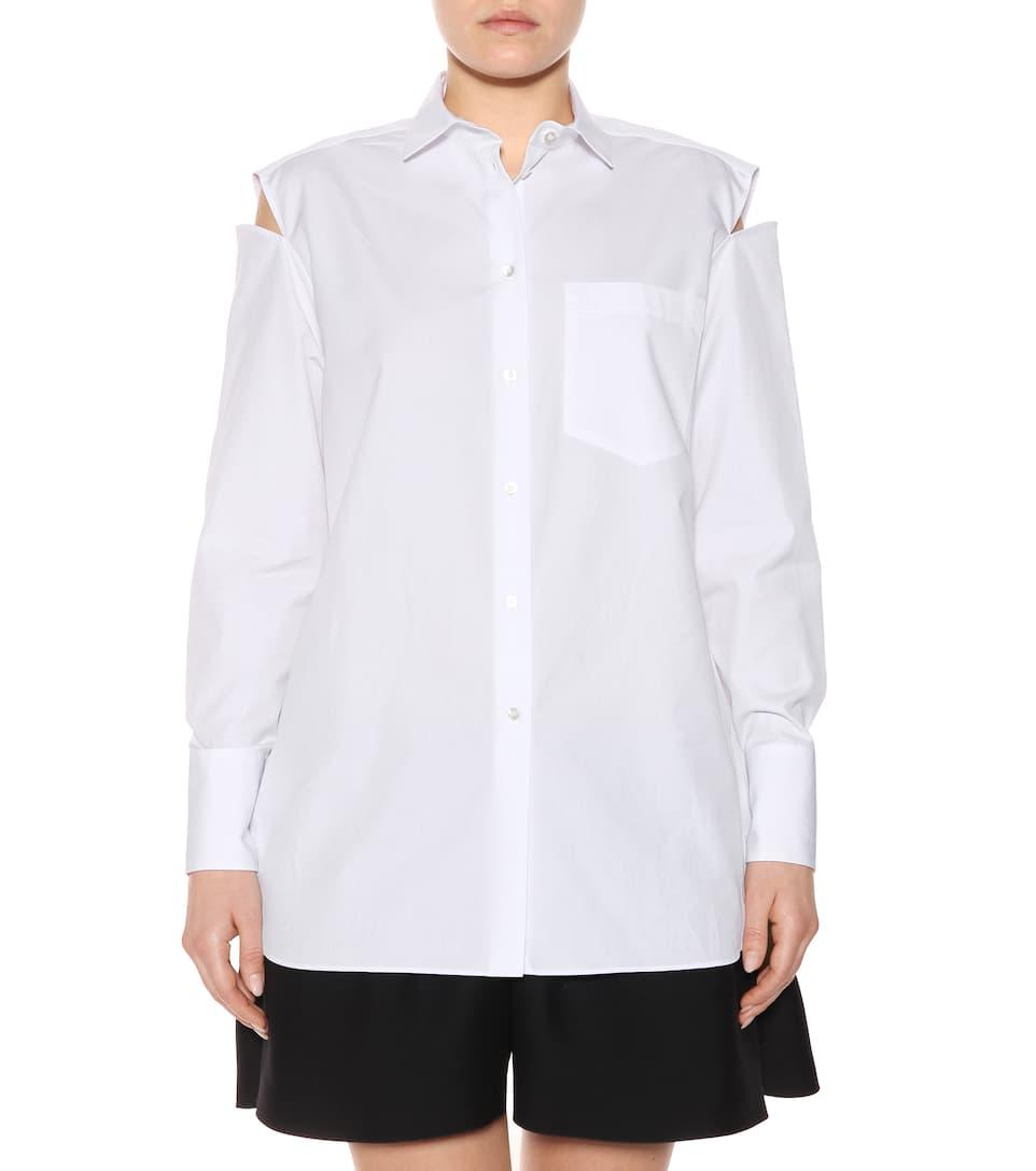 Spielraum Online-Shop Günstig Kaufen Besuch Neu Valentino Bluse aus Baumwolle mit Cut-outs BXGe2f