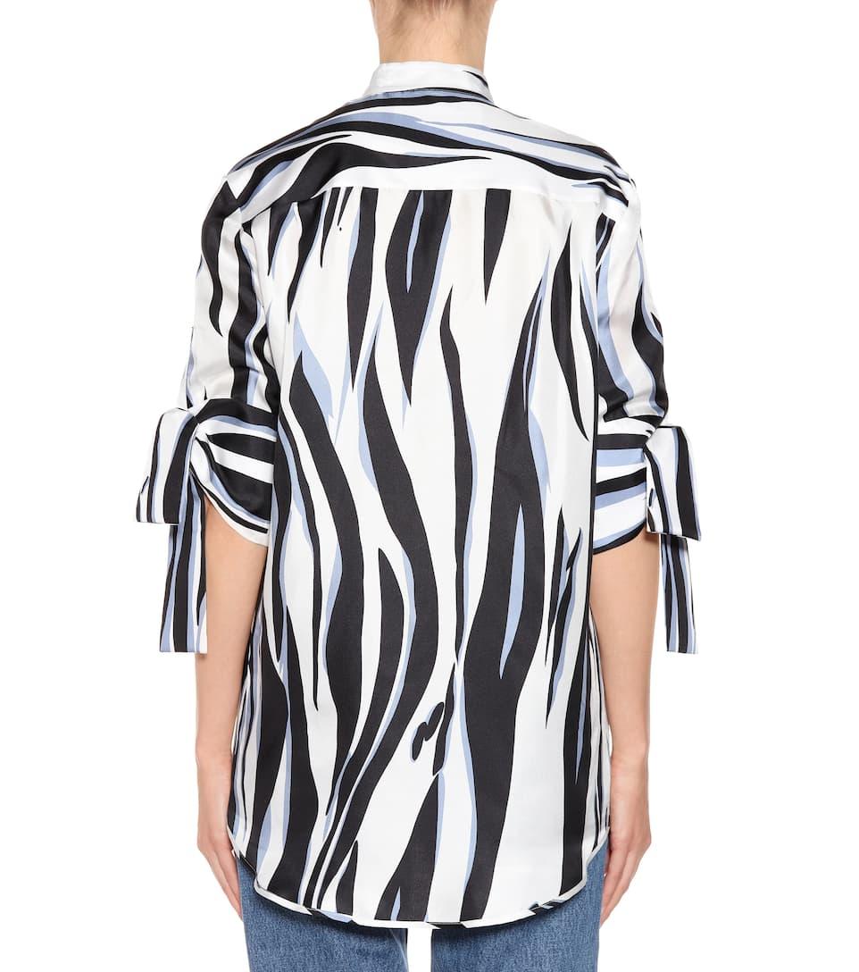 afdb8dd8eb8476 Printed silk top. Victoria Victoria Beckham