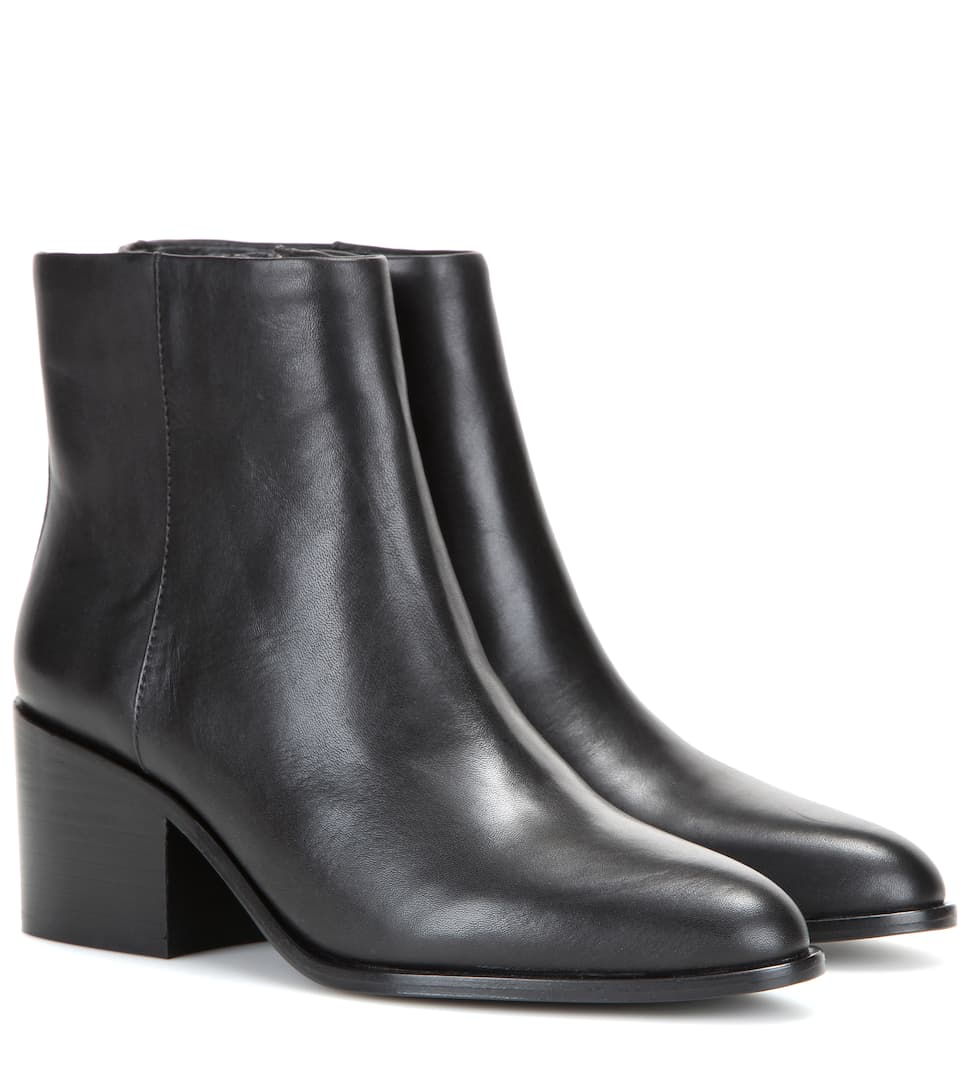 Livv Chunky Heel Booties in Black