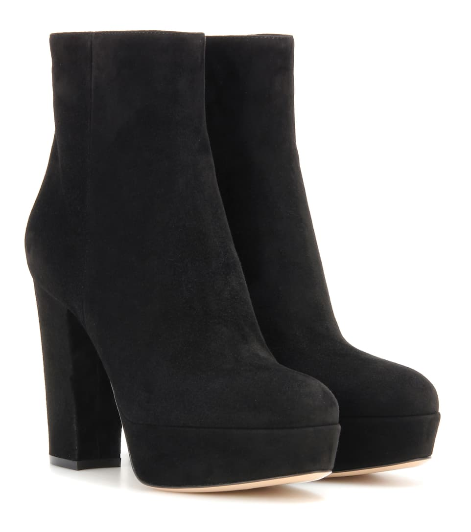 gianvito suede platform ankle boots mytheresa