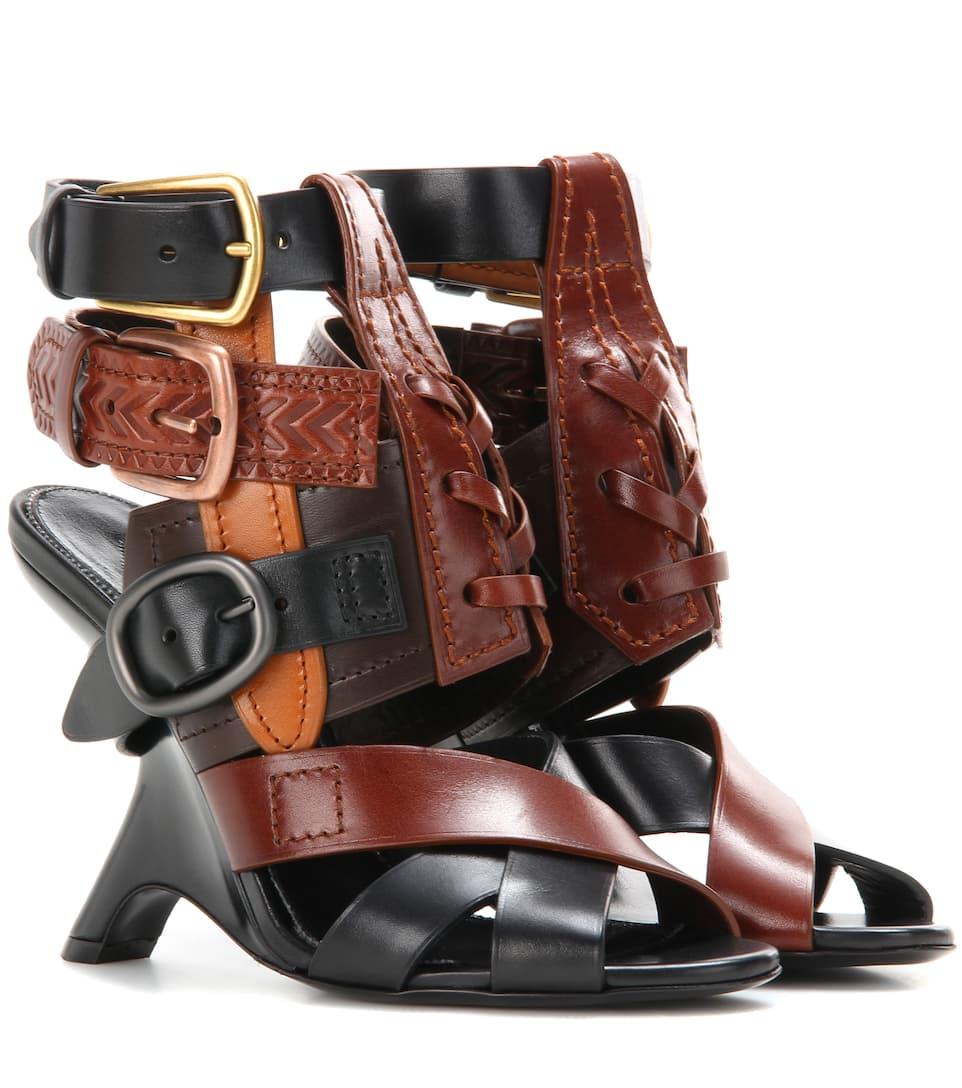 Tom Ford Embellished leather sandals Black/Brown Amazon Sale Online brDOz
