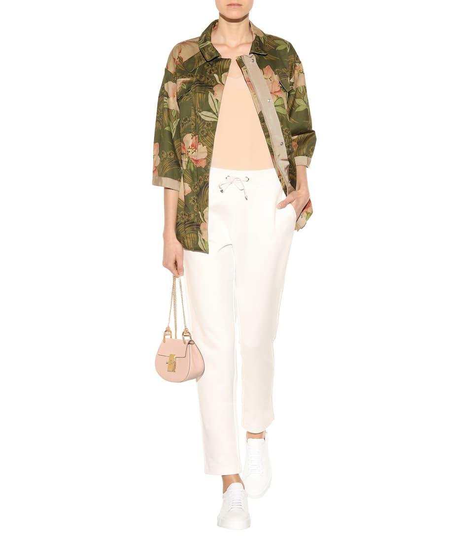 Moncler Cotton Trousers, White
