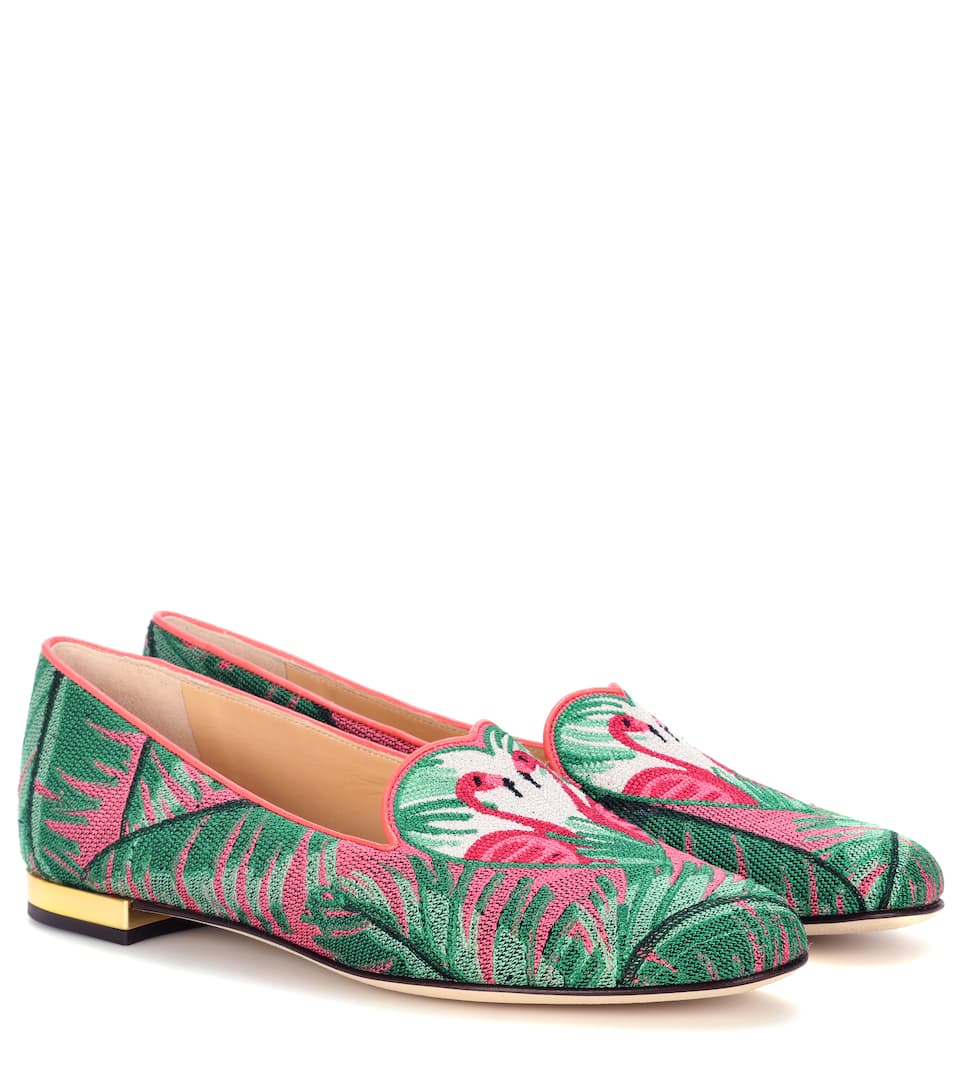 Charlotte Olympia Slippers Flamingo