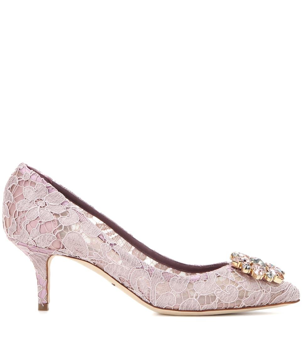 Rabatt Billigsten Auslass Manchester Dolce & Gabbana Verzierte Pumps Bellucci aus Spitze oDDIlb0nl