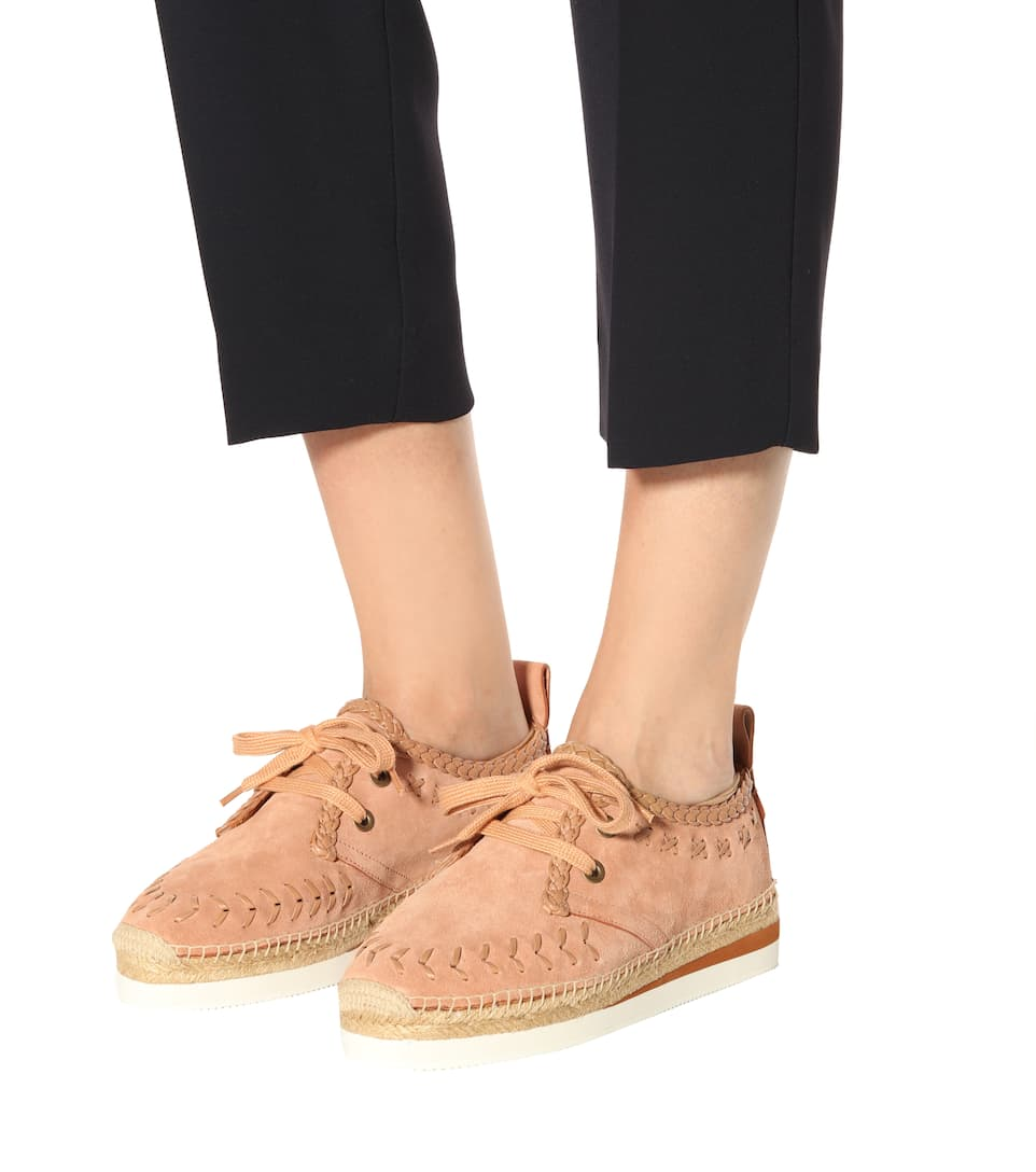 Leather lace-up espadrilles See By Chlo RhWT6lM