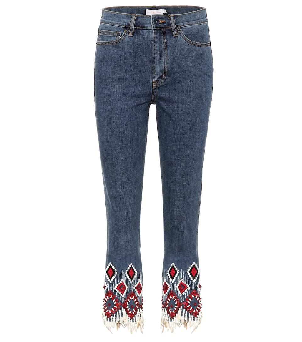 Tory Burch Verzierte Cropped Jeans