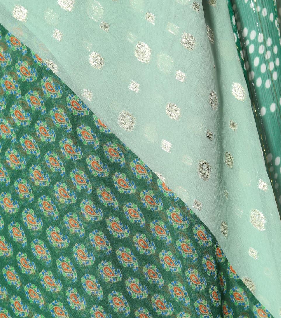 Etro Asymmetrische Robe aus Seide
