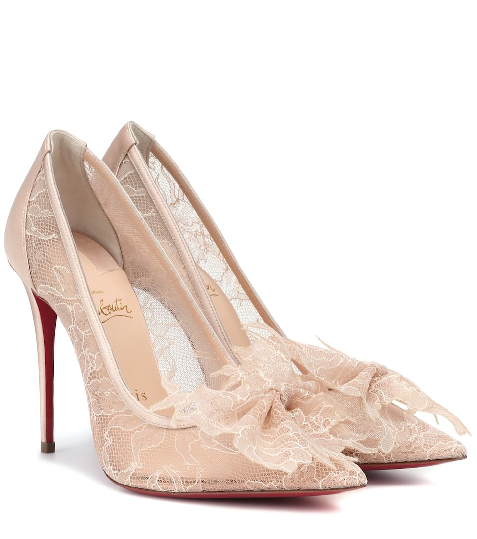 Delicatissima 100 Lace Pumps by Christian Louboutin