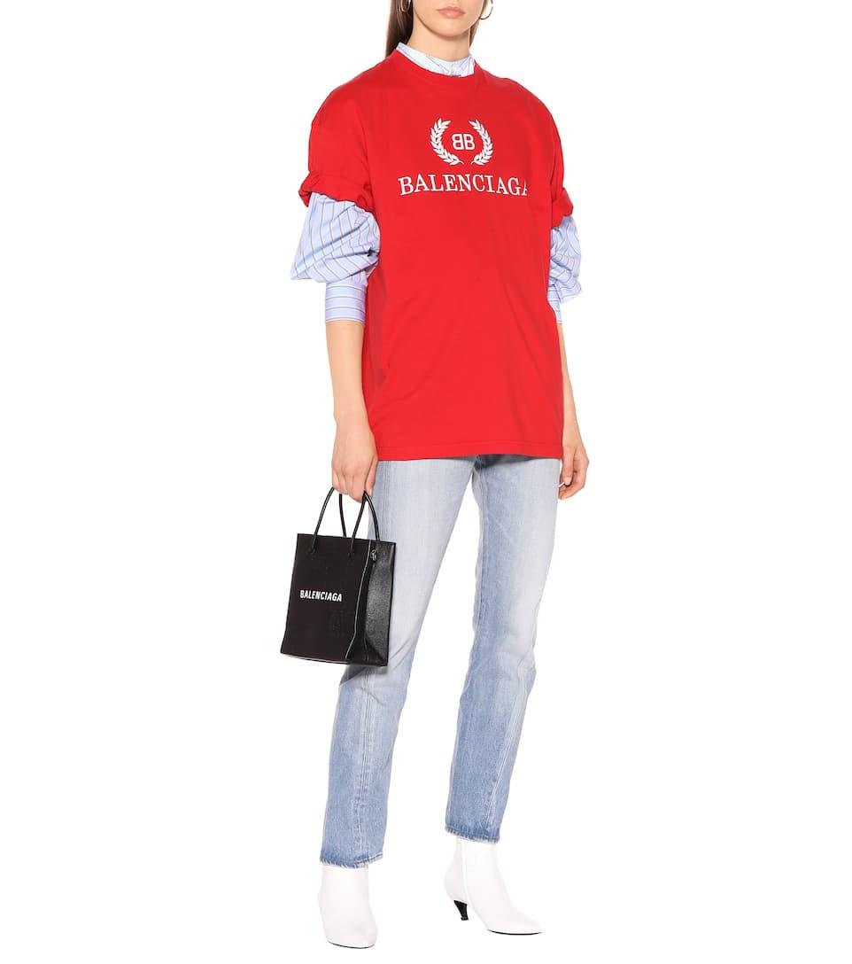 a478dea1 Printed Cotton T-Shirt - Balenciaga   mytheresa.com