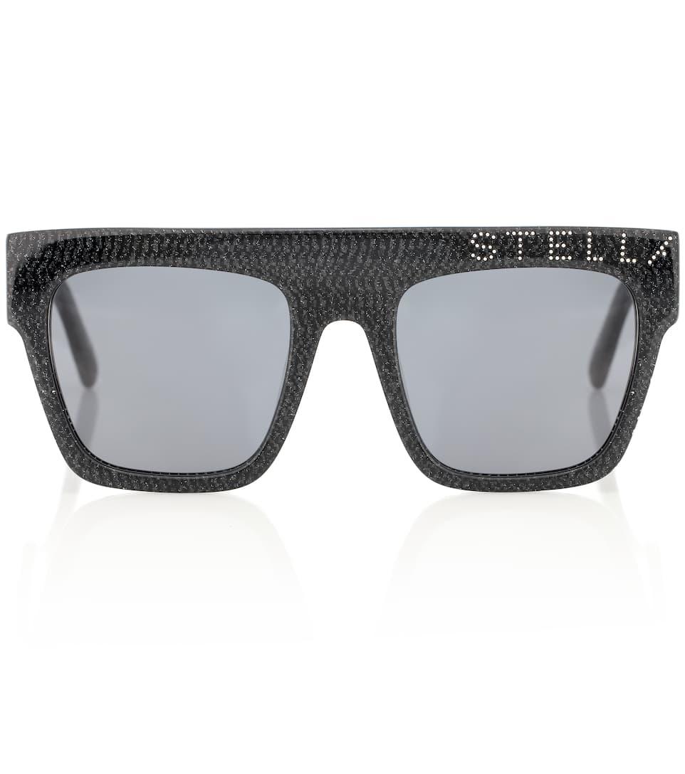 5c37b2fe3 Stella McCartney - نظارات شمسية مربعة مع تزيين | Mytheresa