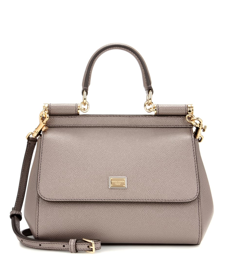 Dolce & Gabbana White Sicily small leather shoulder bag MdcmQ