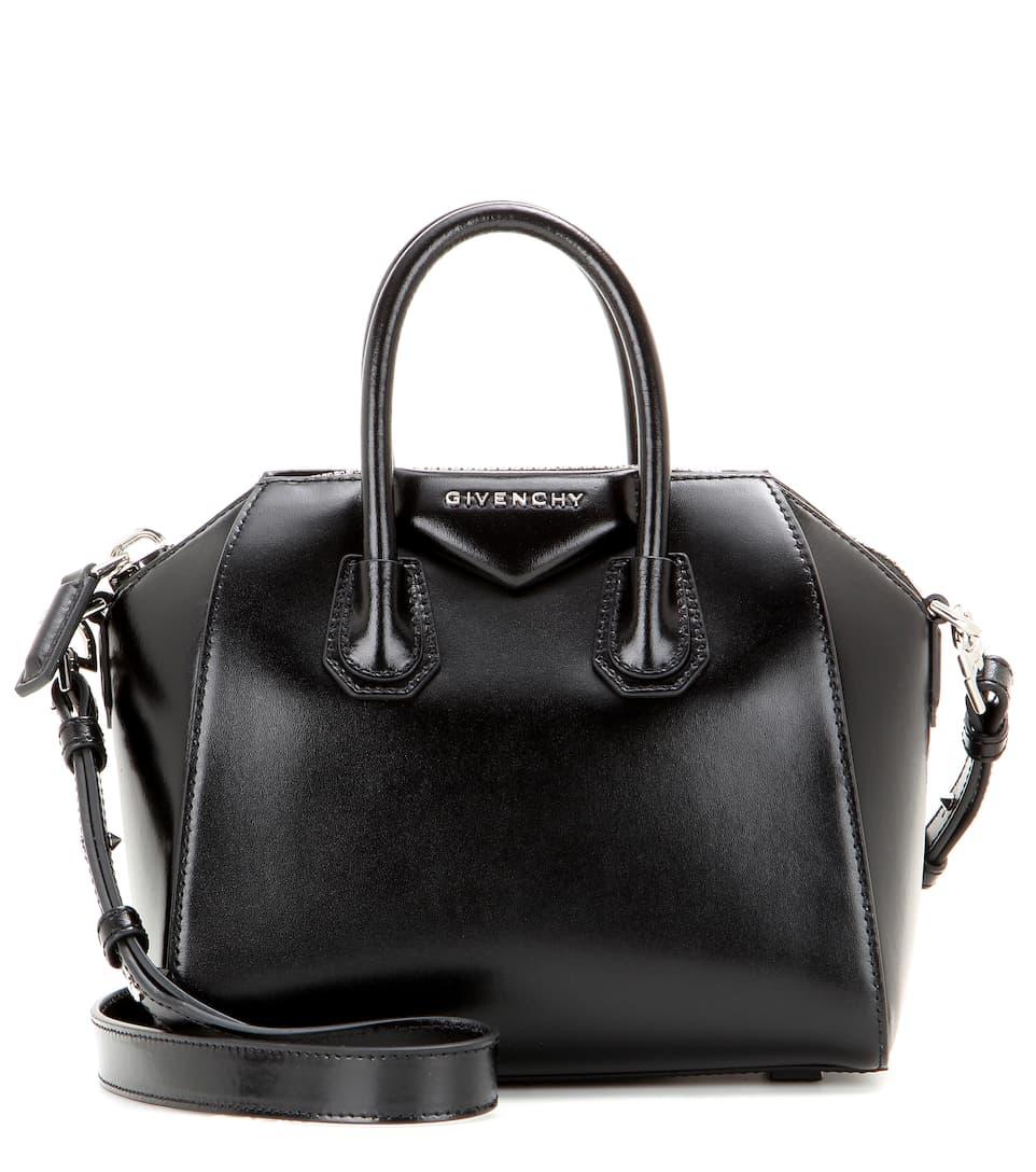antigona mini leather shoulder bag givenchy. Black Bedroom Furniture Sets. Home Design Ideas