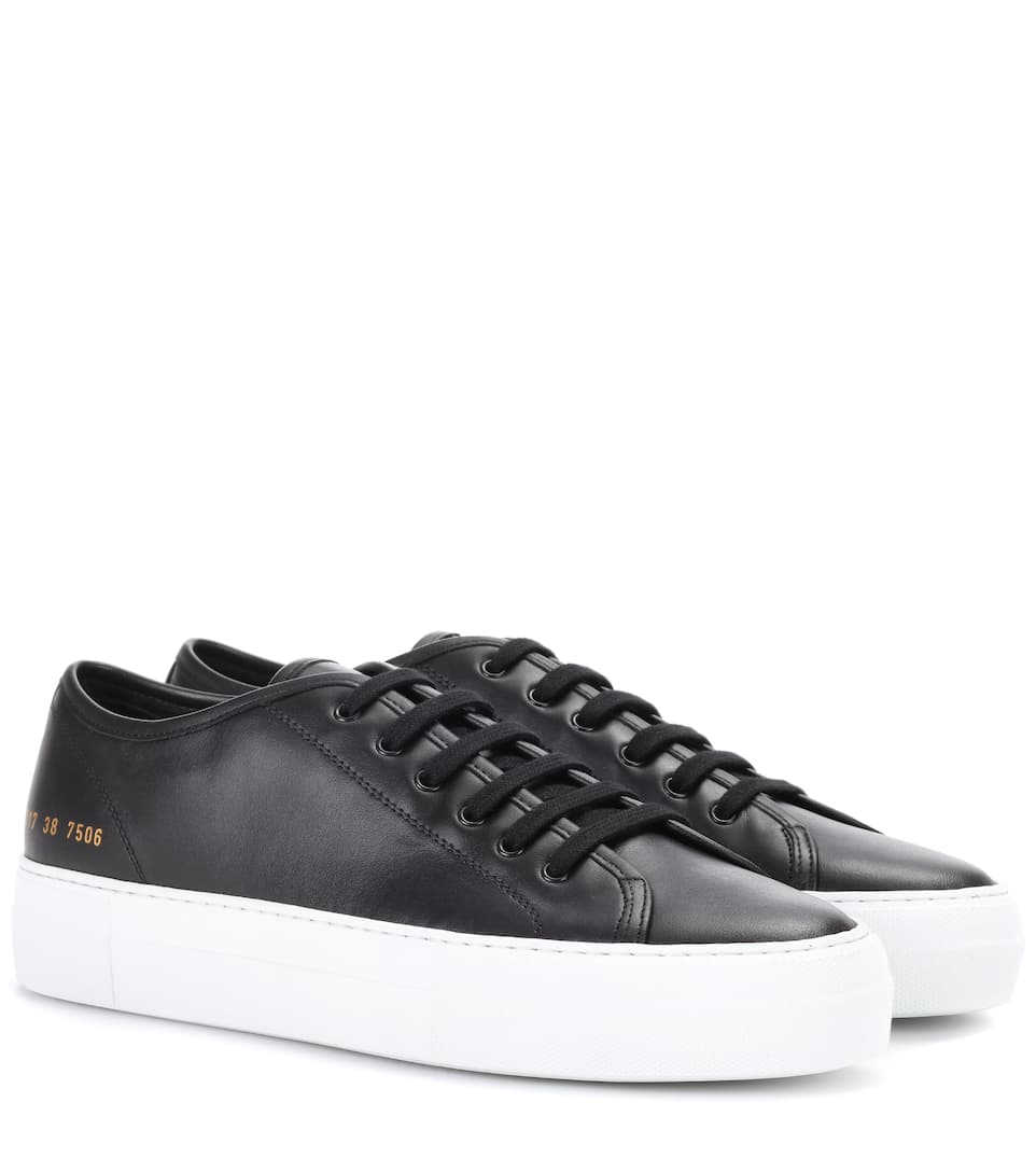 Tournament Sneakers Aus Leder - Schwarz Common Projects