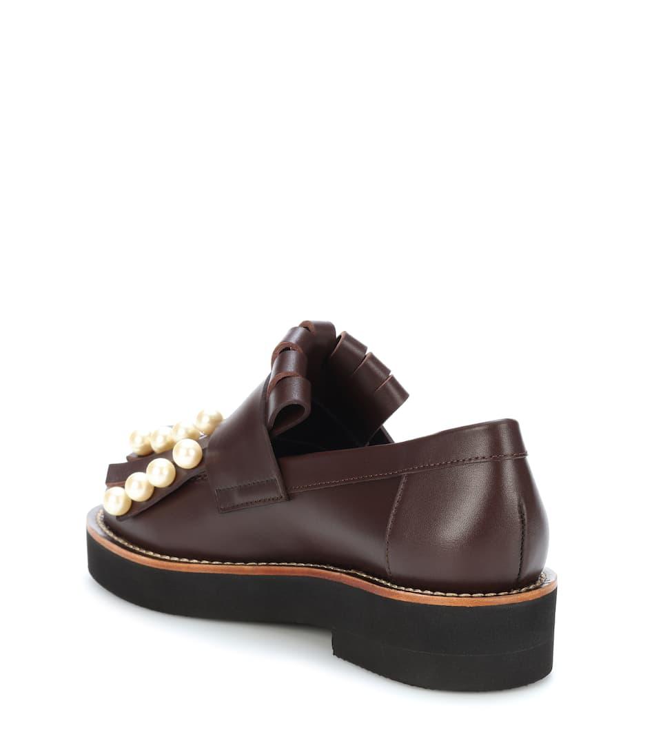 Marni Verzierte Loafers aus Leder