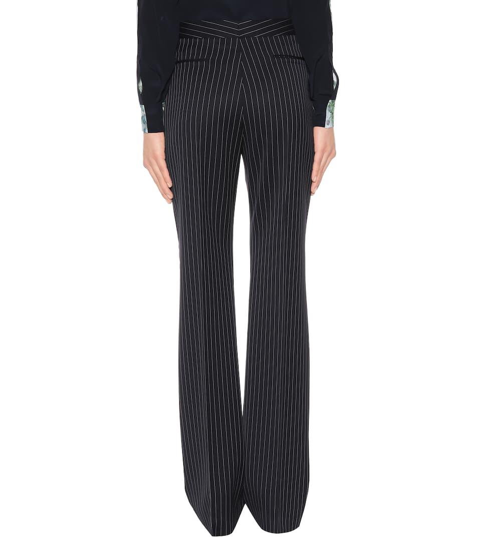 Pantaloni a righe in lana. Stella McCartney