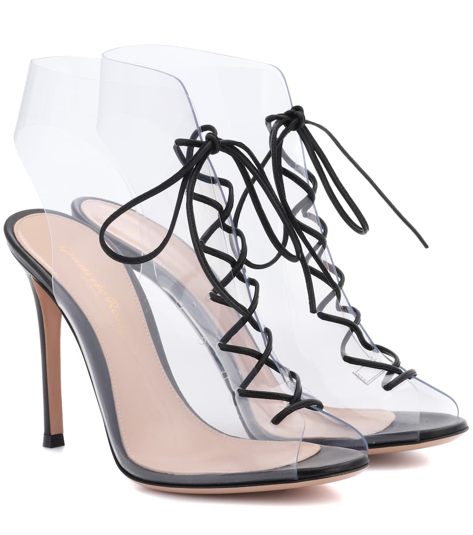 Helmut Plexi 100 Lace-up Pvc And Leather Ankle Boots - Neutral Gianvito Rossi Discount Eastbay Excellent Pick A Best For Sale Cheap Best Prices Buy Cheap Limited Edition HF9e0
