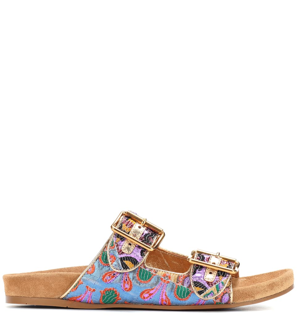 Prada Sandals From Brocade