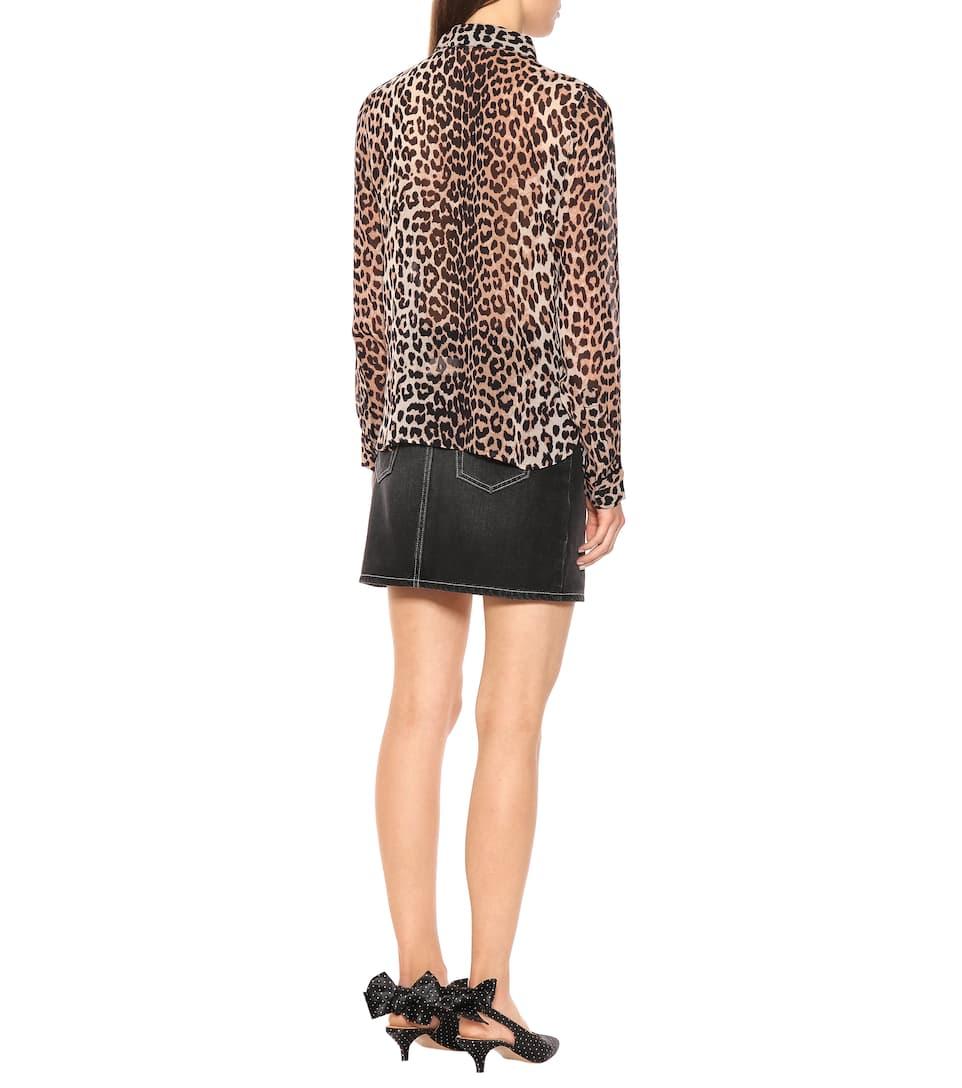 065c1265 Leopard Print Georgette Blouse | Ganni - mytheresa