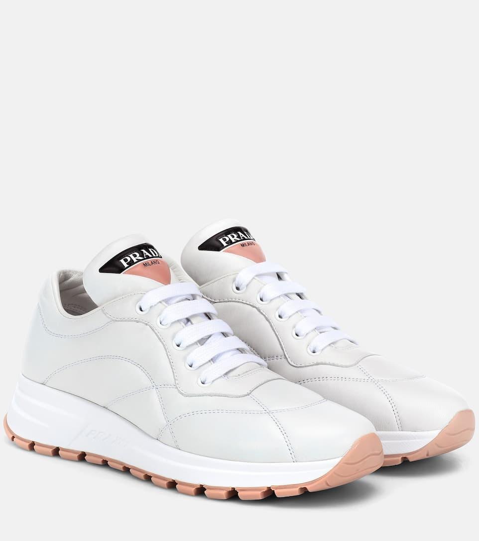 Leather Sneakers | Prada - mytheresa