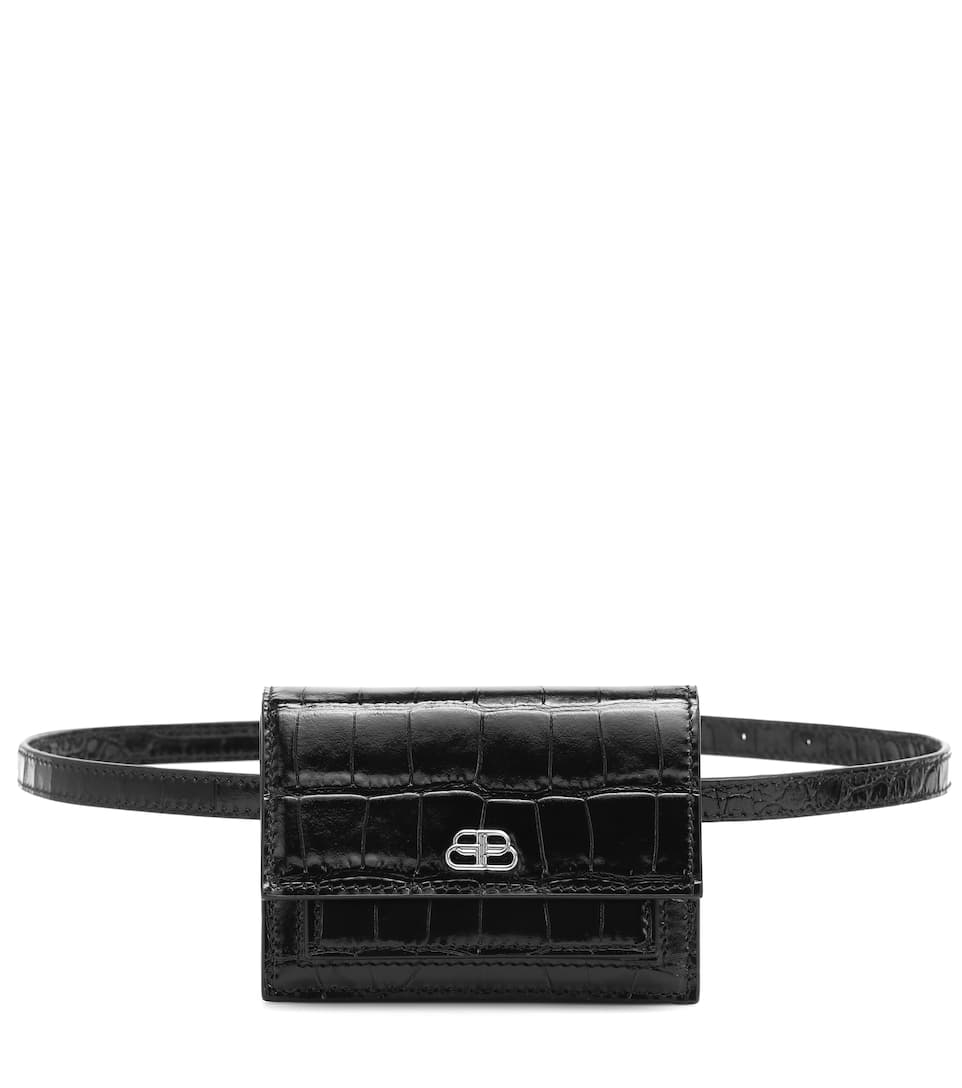 Sharp Xss Croc Effect Belt Bag by Balenciaga