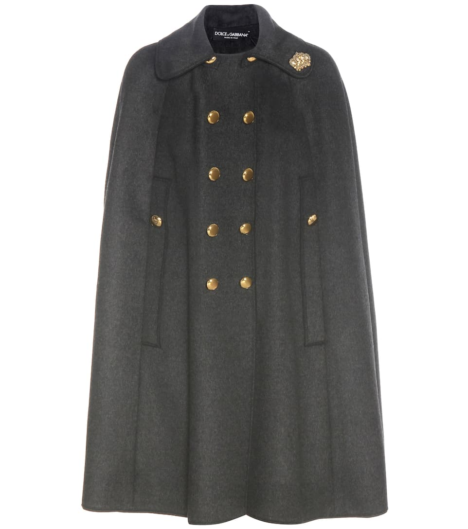 Dolce & Gabbana Embellished wool cape